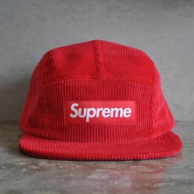 623671cab1d Supreme Corduroy Camp Cap Red