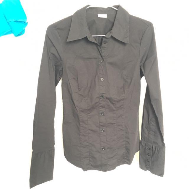Suzy Cotton Black Shirt