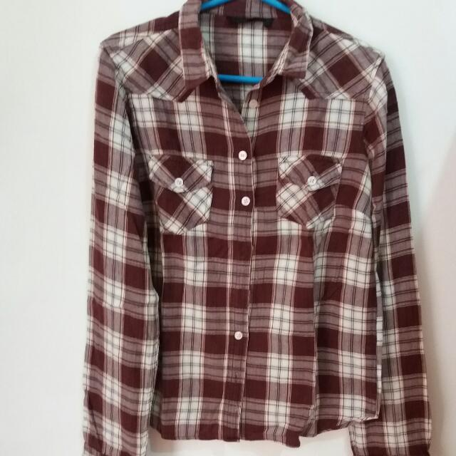 Repriced!!! Topshop Flannel Checkered Longsleeves