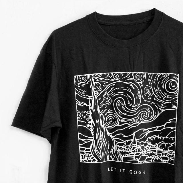 tumblr tee van gogh starry night let it gogh mens