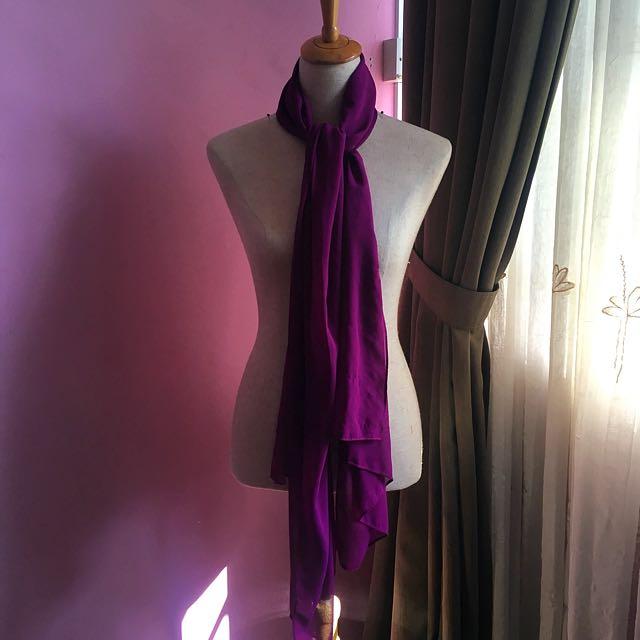 Violet Plain Shawl