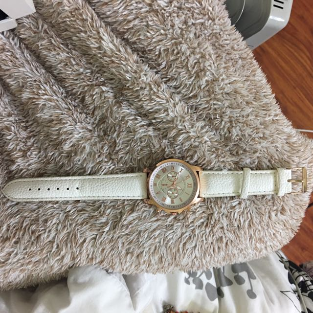 White/rose Gold Watch