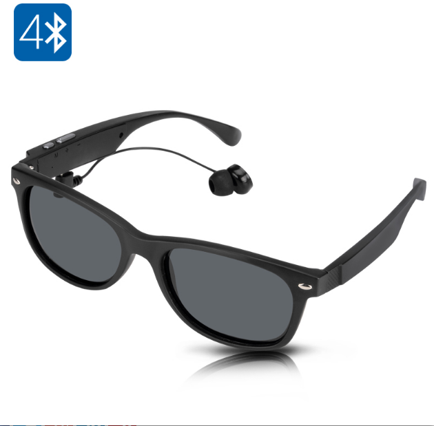 Wireless Headset Bluetooth Sunglasses - Call Answer, Music Handfree Headphones