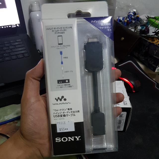 NW-F880 Walkman WMC-NWH10 SONY Conversion USB Cable for NW-ZX1