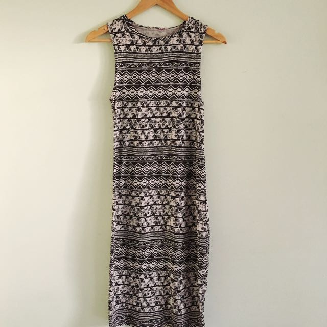 SUPRE - Women's Tribal Midi Dress