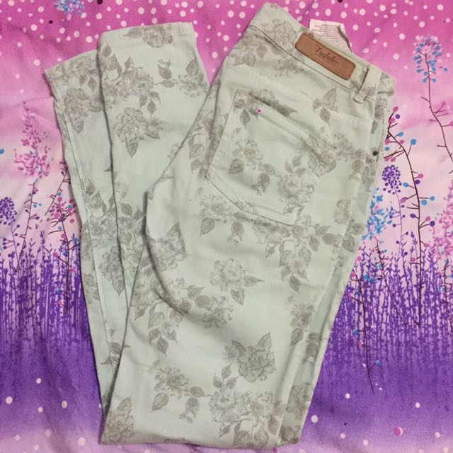 Zara - Floral Jeans