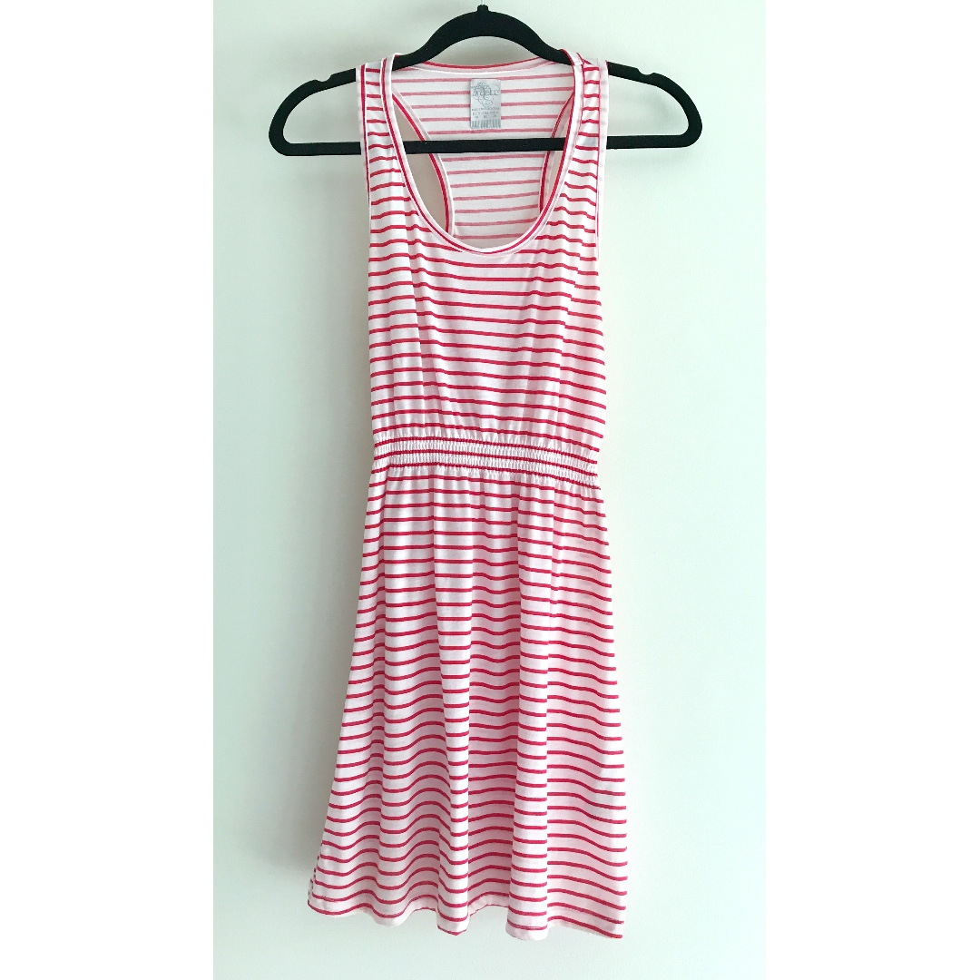 ZARA striped razorback dress