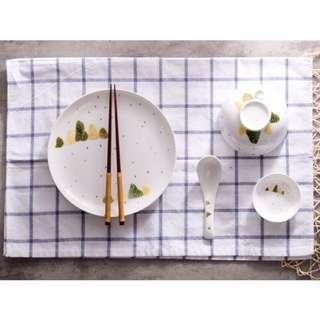 貳號♦️限量♦️可愛森林系 清新北歐 骨瓷餐具 碗  盤 小醬碟