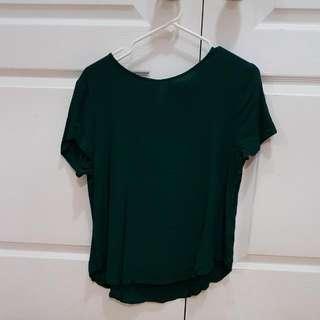 H&M Dark Green Blouse