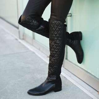 Stuart Weitzman Quiltboot (Black) 紐約精品過膝靴 (黑)