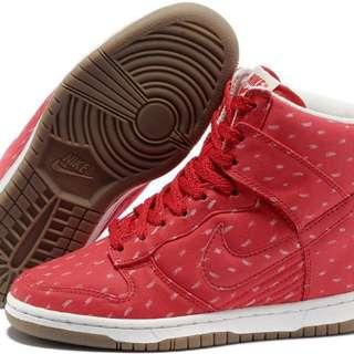 NIKE Dunk Sky High Wedges (Red) 耐吉墊高休閒鞋 (紅)