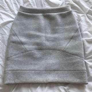 Kookai Grey Marle Scuba Skirt - Size 34/XS