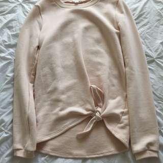 Kookai 'Billie' Tie Up Sweatshirt - Size 1/XS
