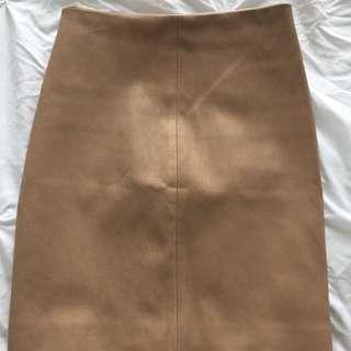 Kookai 'Capri' Leather Skirt - Size 34/XS