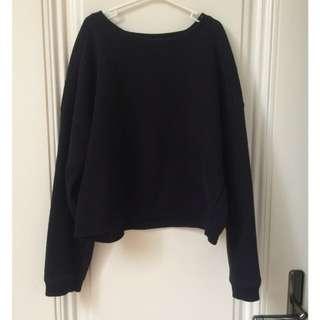 Plain Black Sweater