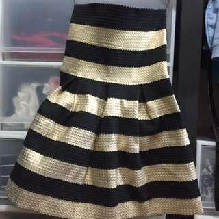 全新forever21條紋 平口洋裝