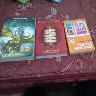 Jual 3 Novel Murah The Guy Next Door Dan Brown , The Davinci Code The Lost Hero