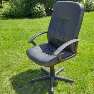 Leather Desk Chair With Wheels