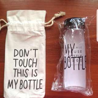 """My Bottle"" Beautiful engraved Clear Plastic Bottle *** With Bag***"