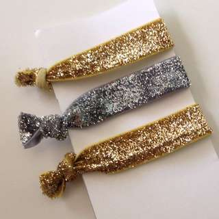 Glitter Gold And Silver Hair Ties!