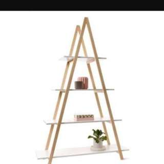 WHITE TRIANGLE SHELF