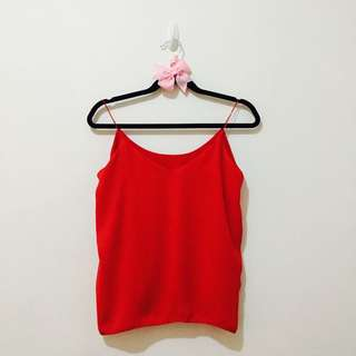 Red Cami String Top