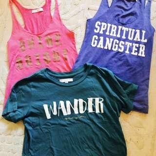 Spiritual Gangster Tops X 3