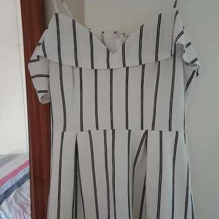 Mirrou striped Playsuit.