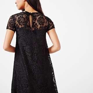 Sz M RW & Co Black Lace Dress