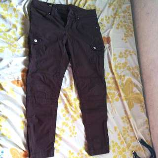 LEE denim brown pants(6pocket/skinny)