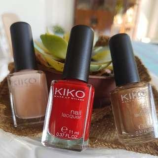 3 Kiko Milano Nail Polish