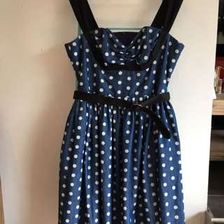 Isakelle Vintage Polka Dot Dress