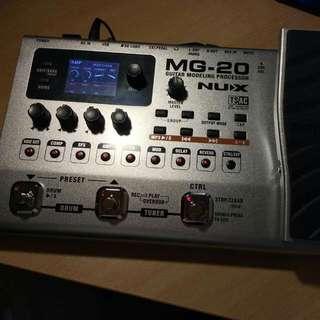 NUX MG-20 多功能吉他合成效果處理器