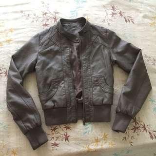 Gray Leather Jacket From ireland
