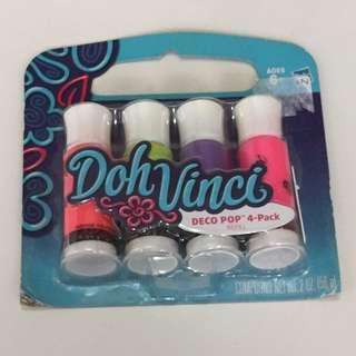 Doh Vinci Deco Pop 4-Pack Refill