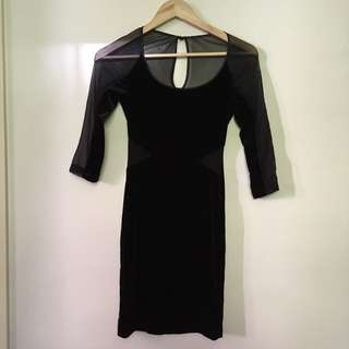 BARDOT size 6 Velvet BODYCON Dress