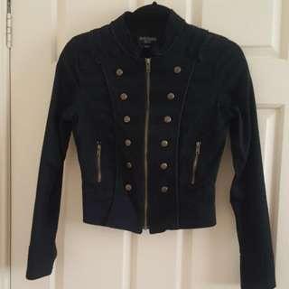 Military Jacket. Just jeans. Sz8