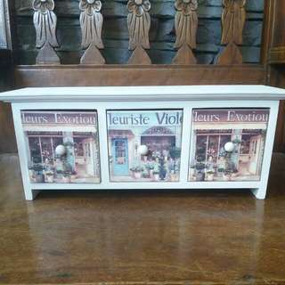Small Wooden White Drawer