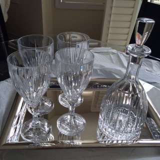 CRYSTAL DECANTER SET!