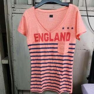Peach VNeck Tshirt