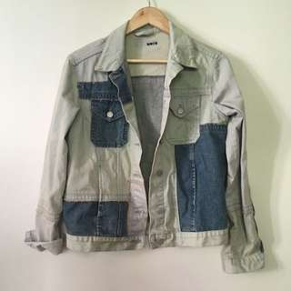 Topshop Denim Jacket Size 8 Oversized