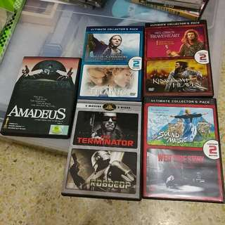 9 Movie DVDs (all Original)