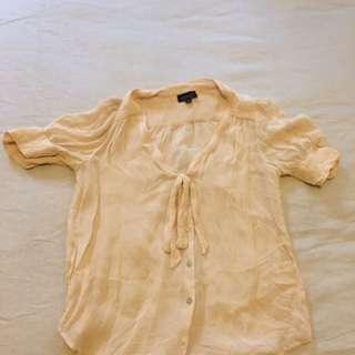 Topshop Chiffon Shirt 36/8