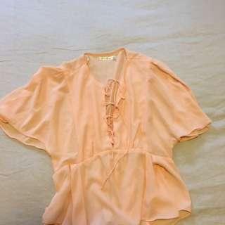 Peach Dress Top