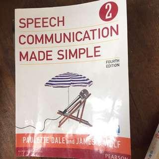 Speech Communication Masa Simple