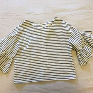 Crop Shirt With Arm Details