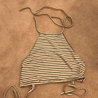 Luck And Trouble Halter Crop-size 8