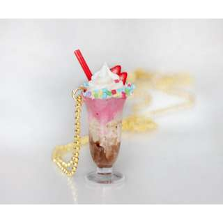 Neapolitan Ice Cream Milkshake Necklace (080)