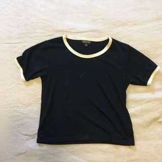 Topshop Crop Tshirt