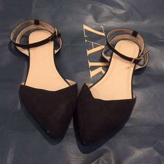 ASOS Black Flat With Strap